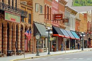 Street in Historic Deadwood town